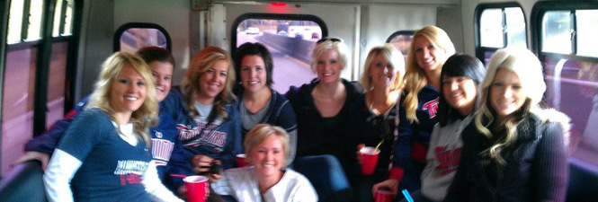 Special event party bus to Minnesota Twins game