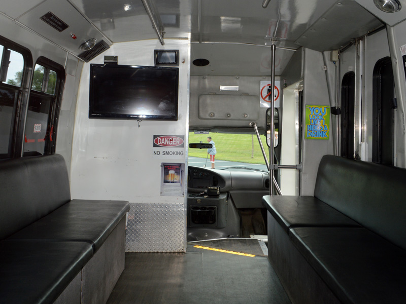 15 passenger party bus interior transportation mn