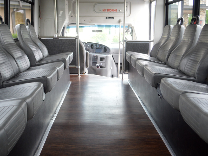 20 passenger party bus interior transportation mn