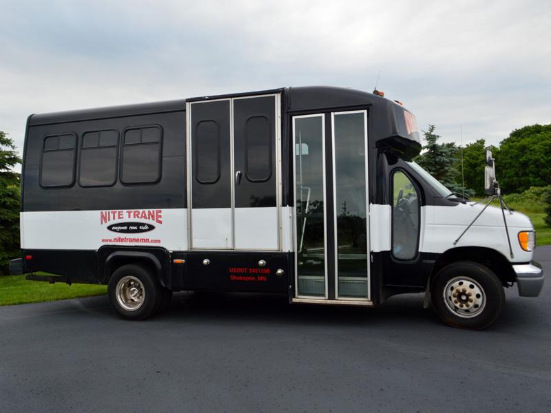 15 passenger party bus exterior transportation mn